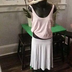 New York & Company Stretch Midi Flowy Comfy Skirt